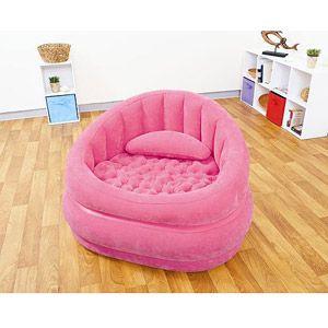 Soooo cute intex cafe inflatable chair pink