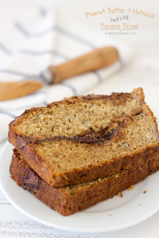 ... Butter and Nutella Swirled Banana Bread... a dreamy loaf of bread