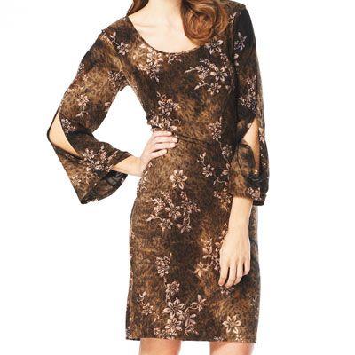 Amp jo animal glitter print dress vintage modern dresses pinte