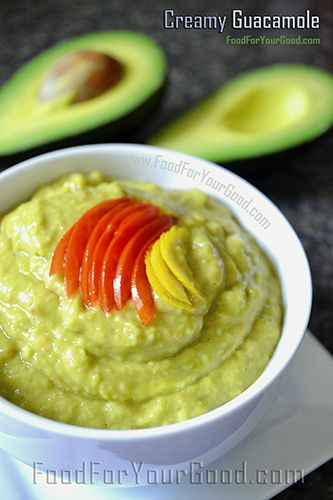 ... made Creamy Guacamole   FoodForYourGood.com #creamy_guacamole #dip