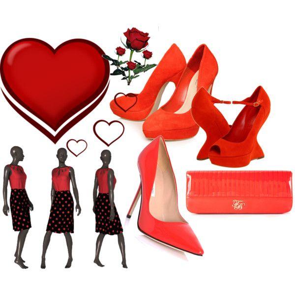 red valentine fashion