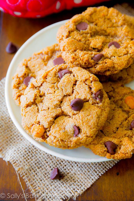 Flourless Almond Butter Chocolate Chip Cookies - gluten free, simple ...