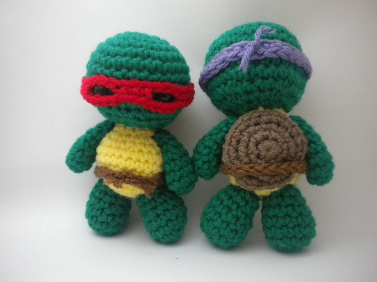 Crochet Pattern - Mini Turtle Ninjas Amigurumi - PDF file ...