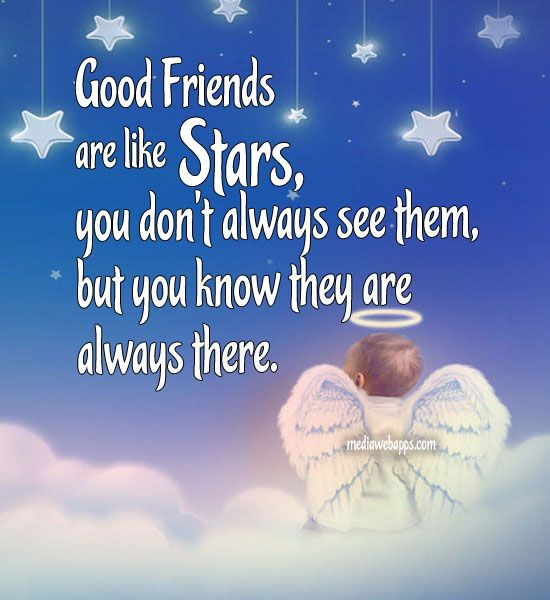 Friendship Sayings For Christmas Cards : Good Friends Are Like Stars You  Don T Always See