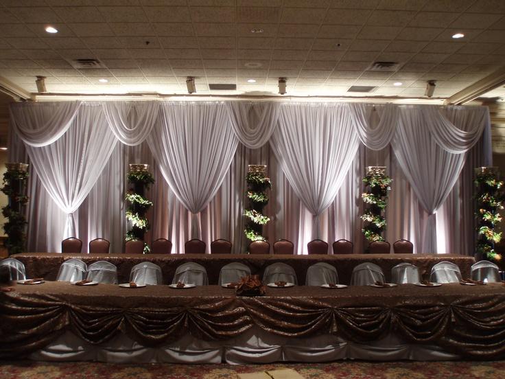 ... layer backdrop with valance | Wedding Design & Decor | Pintere
