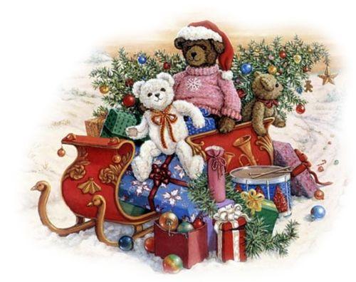 tubes noel / oursons | Christmas Clip Art | Pinterest