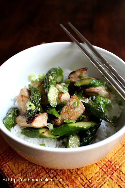 Chicken and Asparagus Stir Fry... wonder if anything like black pepper ...