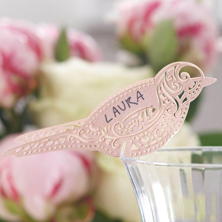 Porte nom oiseau dentelle (instemporel)  Mariage - déco / DIY  Pint ...