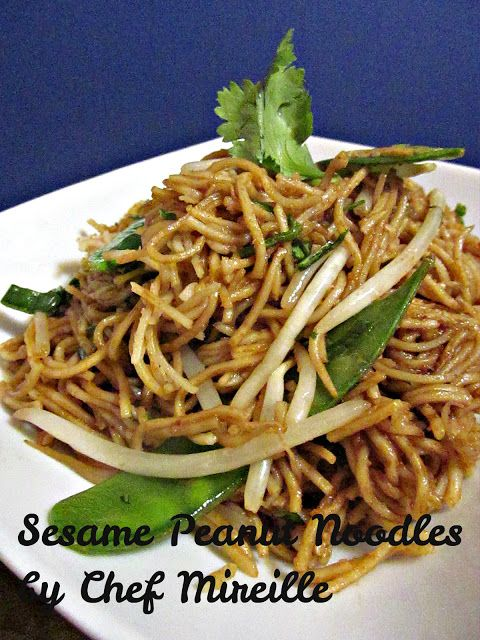 Sesame Peanut Noodles | Recipes | Pinterest