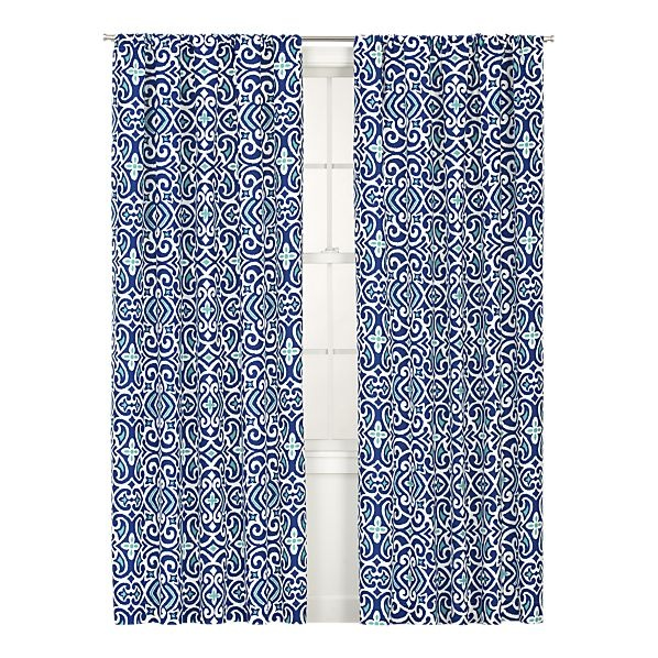 blue patterned curtains living rooms pinterest