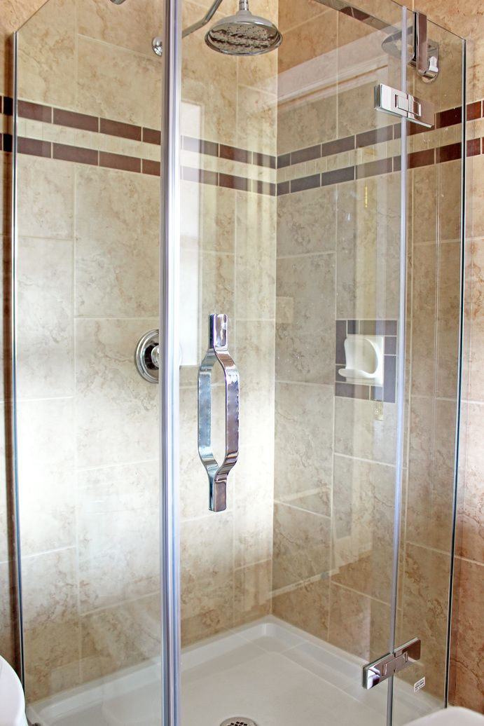 New shower stall tiled floor to ceiling bathroom ideas pinterest Tile shower stalls