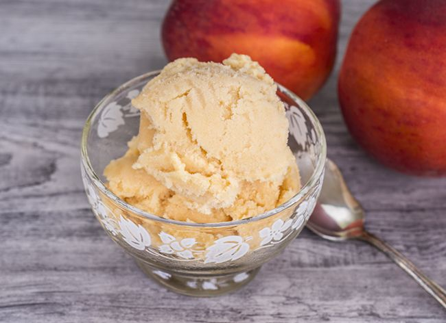 grilled peach sherbet | Frozen sweets | Pinterest