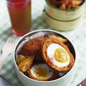 Chorizo Scotch Eggs with Paprika Spiced Potato Salad - Independent.ie