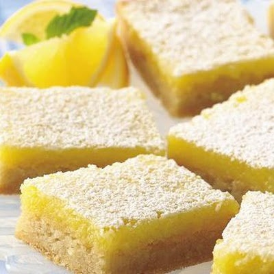 So-Easy Lemon Bars - very good but make sure you serve them chilled!
