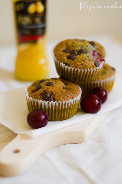 Double chocolate cherry muffins | For the love of food | Pinterest