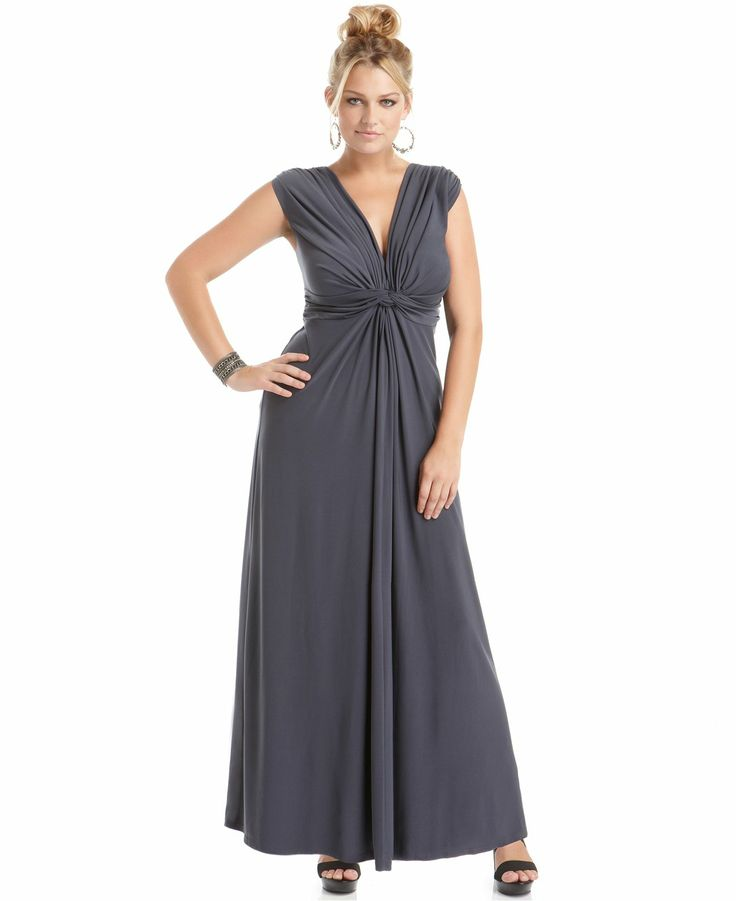 Love Squared Plus Size Dress Sleeveless Knotted Maxi - Discount ...
