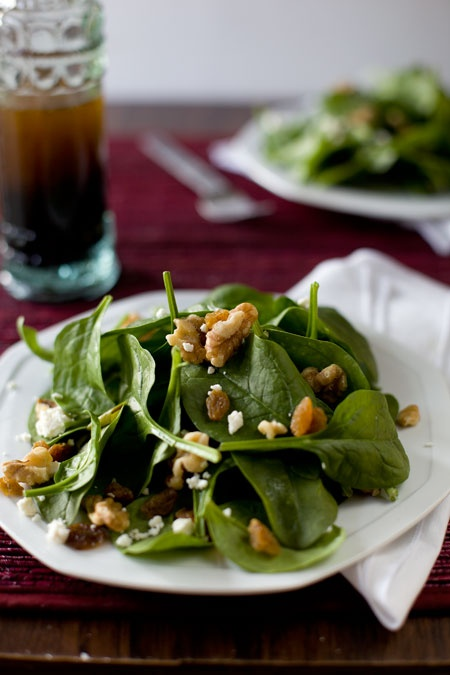 Spinach Salad with Feta and Walnuts | Salads | Pinterest