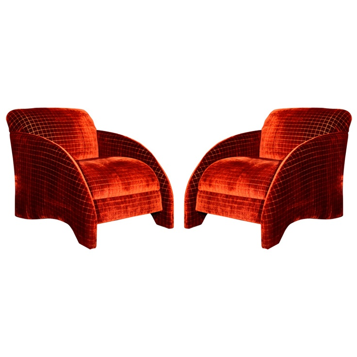 Pair post modern occasional chairs for Post modern chair