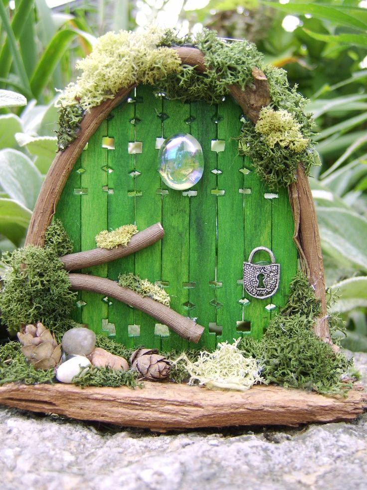 Recycle reuse renew mother earth projects how to make for Fairy doors to make