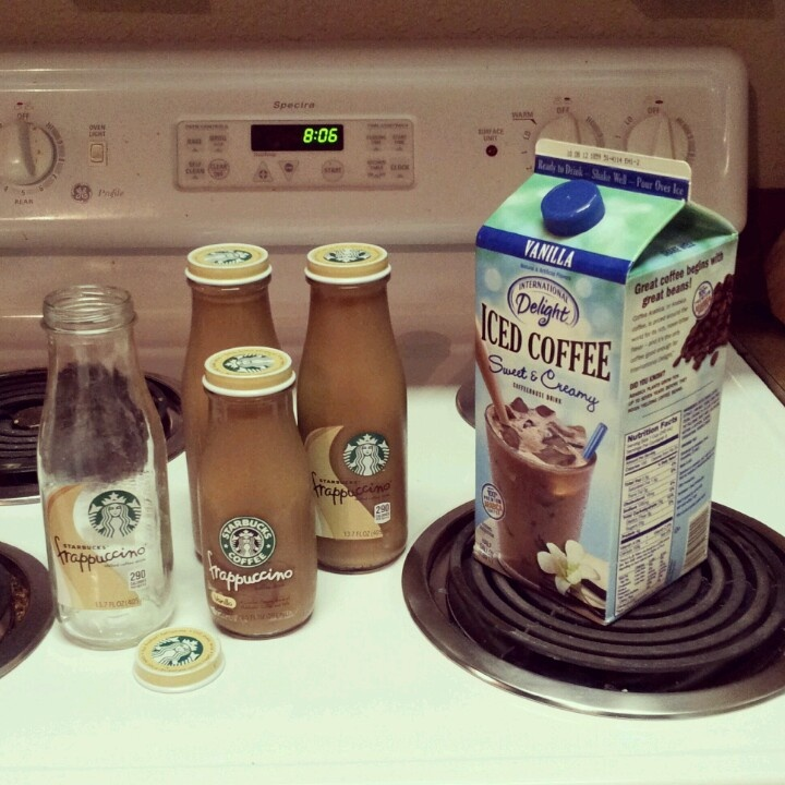 Use generic iced coffee to refill brand name containers. Tastes just ...