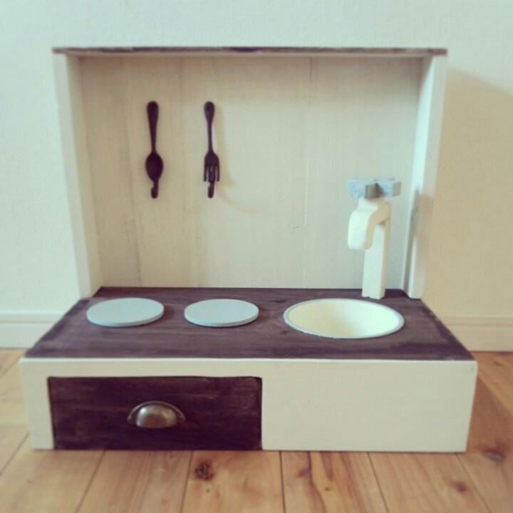 キッチン ままごとキッチン : ままごとキッチン | DIY | Pinterest