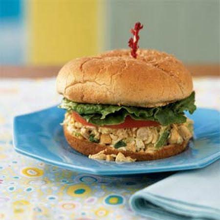 Cashew Chicken Salad Sandwiches | Sandwiches and wraps | Pinterest