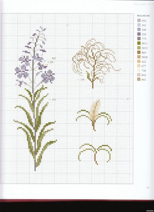 Вышивка травы схемы 16