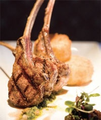 Grilled Colorado Lamb Chops with Mint Salsa Verde