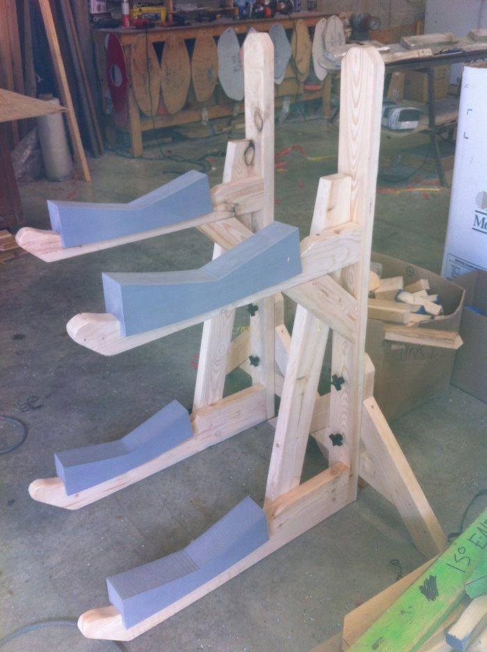 Build boat cool diy kayak canoe rack for Boat storage building plans