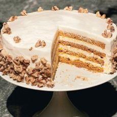 Layered Fruitcake Creme Fraiche Frosting | Healthy Bake Fruitcake ...
