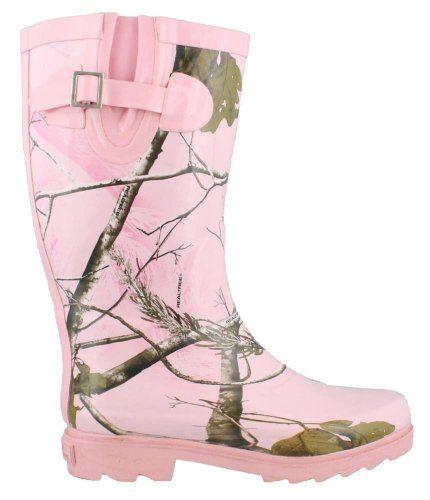 Realtree girl rain boots realtree ap pink camo realtree max 1 pink