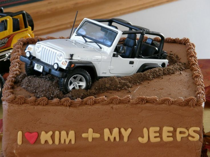 Jeep Wrangler Wedding Cake Topper Pin the grooms cake unfortunately