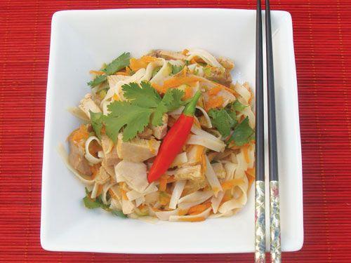 spicy pork noodle salad fig amp cherry