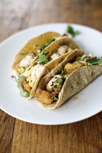 Shrimp Tacos with Apple Cucumber Salsa // #glutenfree #dairyfree # ...