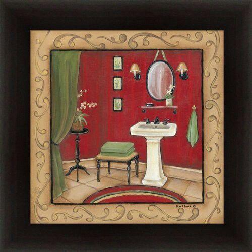 Bathroom Wall Decor Red : Bathroom wall art red appliances home decor