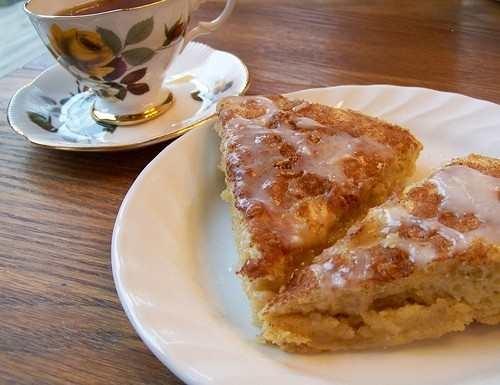 Glazed cinnamon scones   Party: Tea & Scones   Pinterest