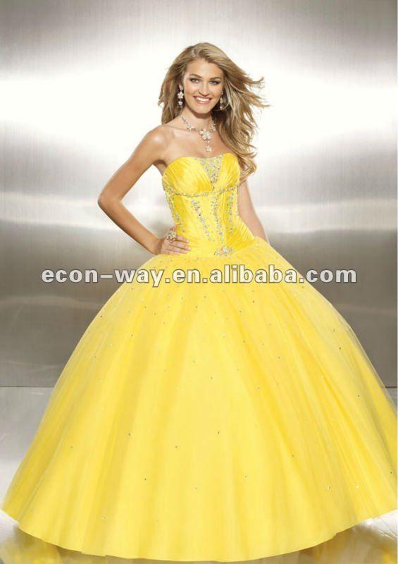 Baby Yellow Prom Dresses - Plus Size Prom Dresses