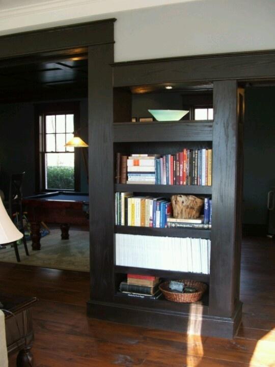 Bookcase room divider beautiful homes pinterest - Bookshelves as room dividers ...