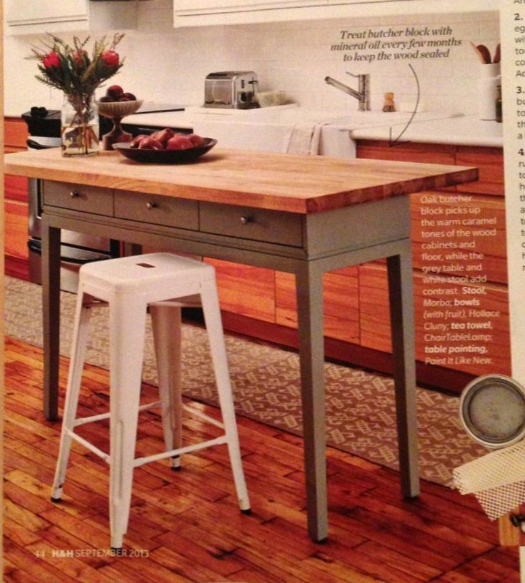 Kitchen Island Table Diy Kitchen Island Using A Console Table And A