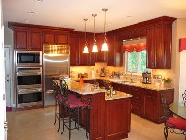 kitchen - st louis - G&K Remodeling Love the bi-level island | New
