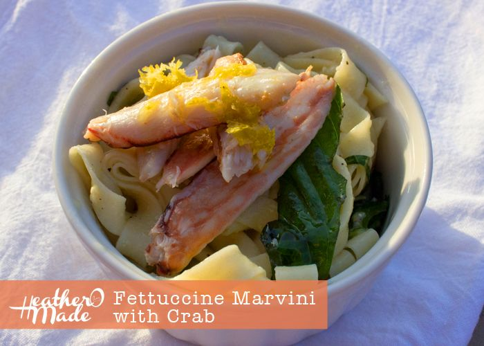 Fettucine Marvini with Crab recipe | Pasta. Please | Pinterest