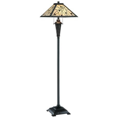 source remus mission tiffany style floor lamp style v1244. Black Bedroom Furniture Sets. Home Design Ideas