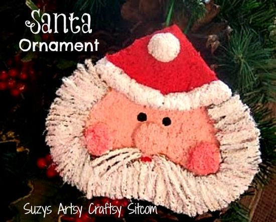 Paper mache santa ornament tutorial christmas ornaments for Paper mache christmas