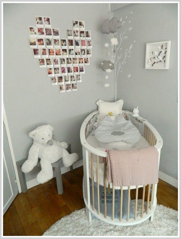 Chambre En Gris Et Rose : Petite fille chic  Déco chambre denfants  Pinterest