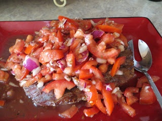 ... Movement ~ Grilled Flank Steak with Tomatoes, Red Onion & Basalmic