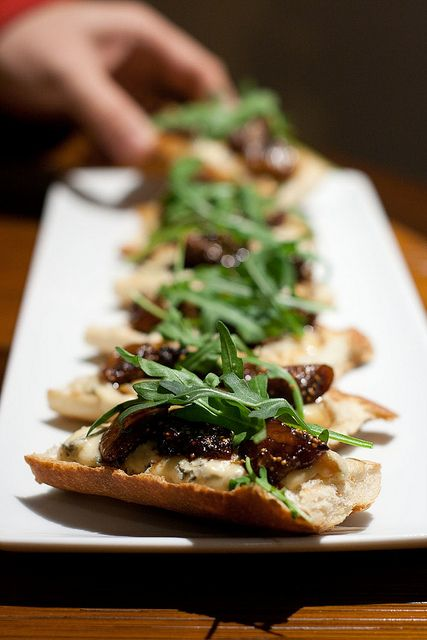 Carmelized fig and blue cheese crostini from Katia's Better with Zest ...