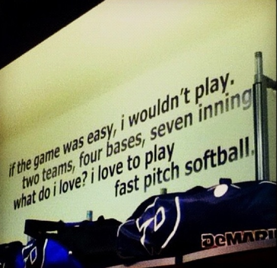 inspirational softball quote