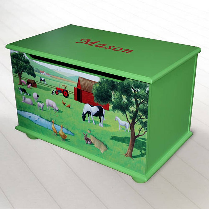 Toy Boxes For Boys : Personalised toy box for boys