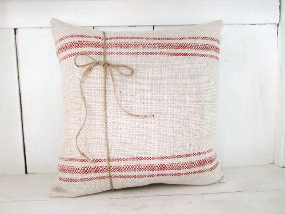 Vintage Style Throw Pillows : Farmhouse pillow, christmas pillow,decorative pillows, vintage style