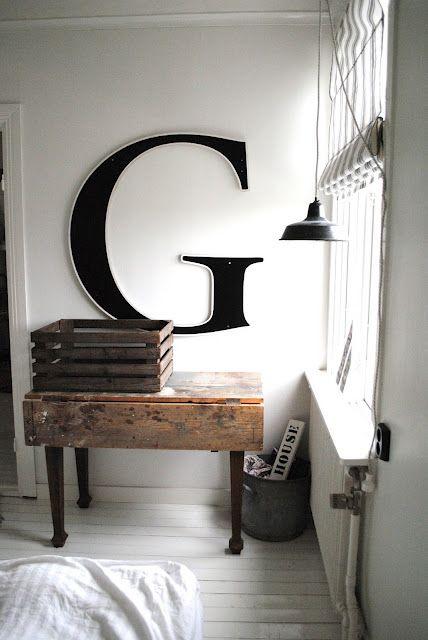 wall letters | Decor & Design | Pinterest